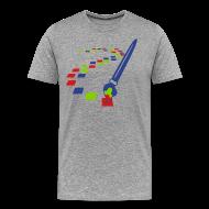 T-Shirts ~ Men's Premium T-Shirt ~ Digital Art Pixel Brush (Men's Shirt)