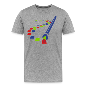 Digital Art Pixel Brush (Men's Shirt) - Men's Premium T-Shirt