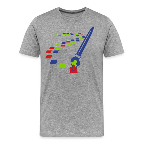 Digital Art Pixel Brush (Men's Shirt) - Men's Premium T-Shirt