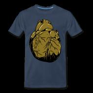 T-Shirts ~ Men's Premium T-Shirt ~ Metallic Heart Of Gold (Men's Shirt)