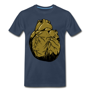 Metallic Heart Of Gold (Men's Shirt) - Men's Premium T-Shirt