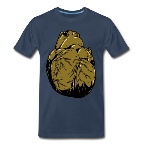 Metallic Heart Of Gold (Men's Shirt) - Men's Premium T-Shirt