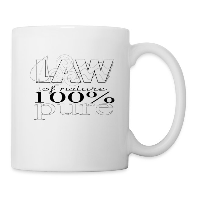 LAW of Nature 100% Pure Mug