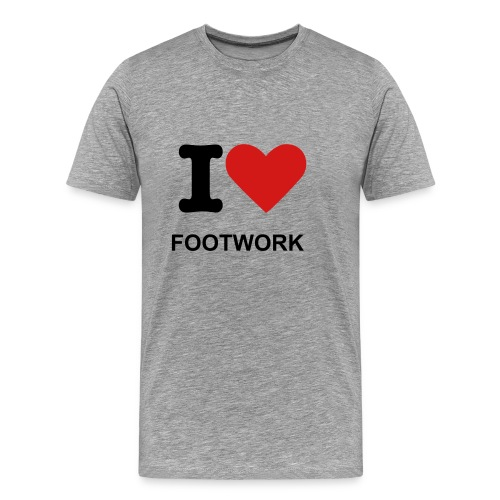 MEN'S BASIC I-LOVE-FOOTWORK TEE - Men's Premium T-Shirt