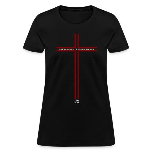 Cross w/light art, 2 sided - Women's T-Shirt