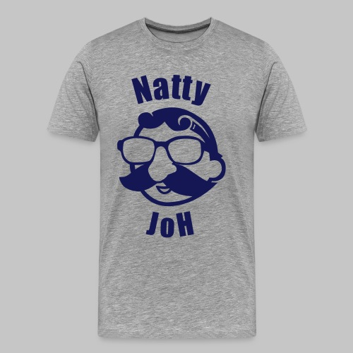 Natty Joh T - Gray (Premium) - Men's Premium T-Shirt