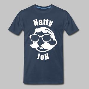 Natty Joh T - Blue (Premium) - Men's Premium T-Shirt