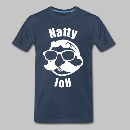 Natty Joh T - Blue (Premium) - Men's Premium T-Shirt