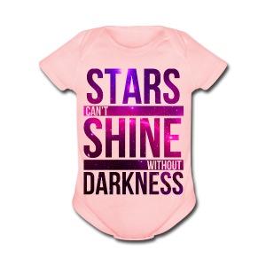 Baby Girl - Star - Short Sleeve Baby Bodysuit