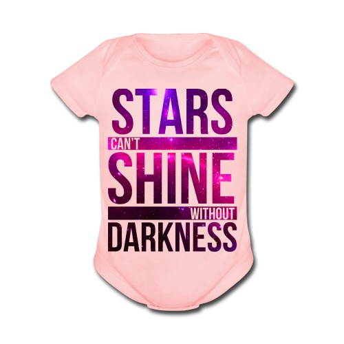 Baby Girl - Star - Organic Short Sleeve Baby Bodysuit