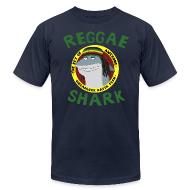 T-Shirts ~ Men's T-Shirt by American Apparel ~ Reggae Shark - Men's (AA, more colors available)