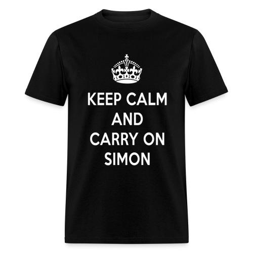 Keep Calm and Carry on Simon - Men's T-Shirt
