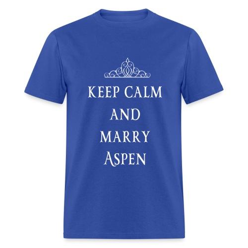 Keep Calm and Marry Aspen - Men's T-Shirt