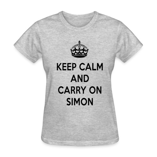 Keep Calm and Carry on Simon - Women's T-Shirt