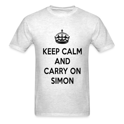 Keep Calm and Carry on Simon - Men's T-Shirt