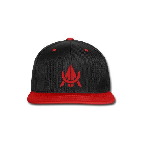 Red on Black - Snap-back Baseball Cap
