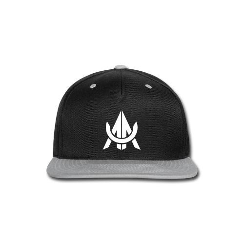 White on Black/Grey - Snap-back Baseball Cap