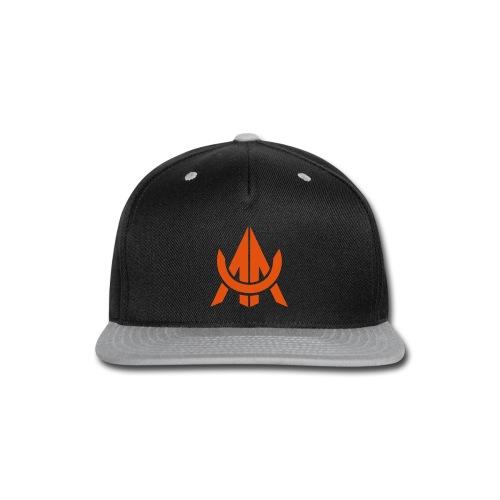 Orange on Black - Snap-back Baseball Cap