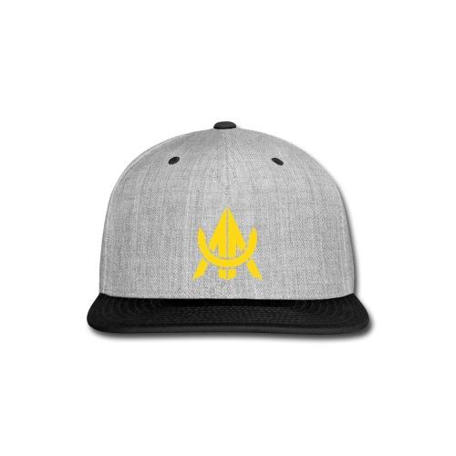 Yellow on Purple - Snap-back Baseball Cap