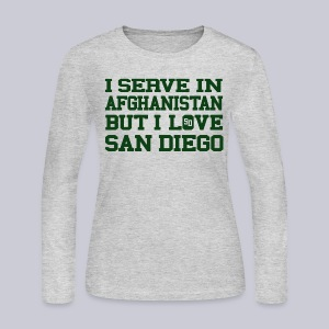 Serve Afghanistan Love San Diego - Women's Long Sleeve Jersey T-Shirt