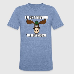 Mission To See a Moose Vacation T-Shirts - Unisex Tri-Blend T-Shirt by American Apparel