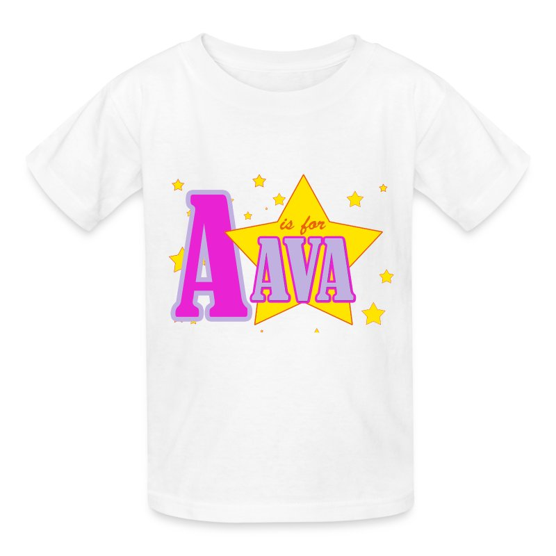 A is for Ava - Kids' T-Shirt