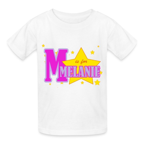M is for Melanie - Kids' T-Shirt
