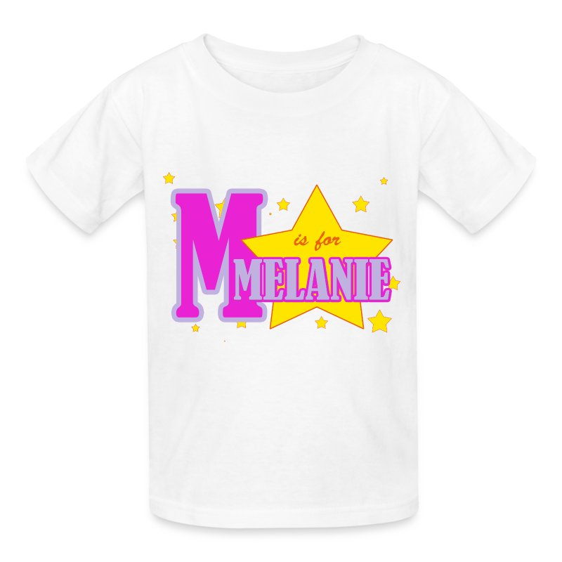 M is for Melanie - Kids' T-Shirt