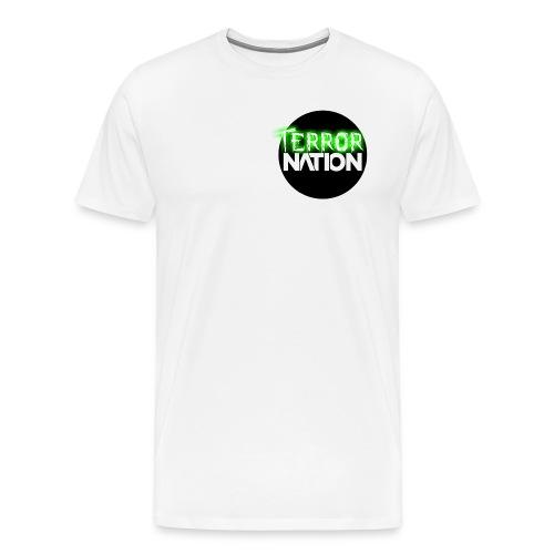 Terror Nation White T! - Men's Premium T-Shirt