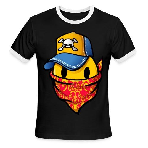 Campaign Bad Smiley Tee - Men's Ringer T-Shirt