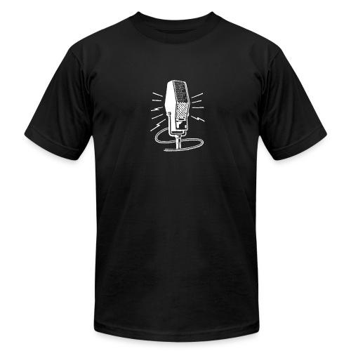 Old Time Radio Microphone - vintage - Men's Fine Jersey T-Shirt