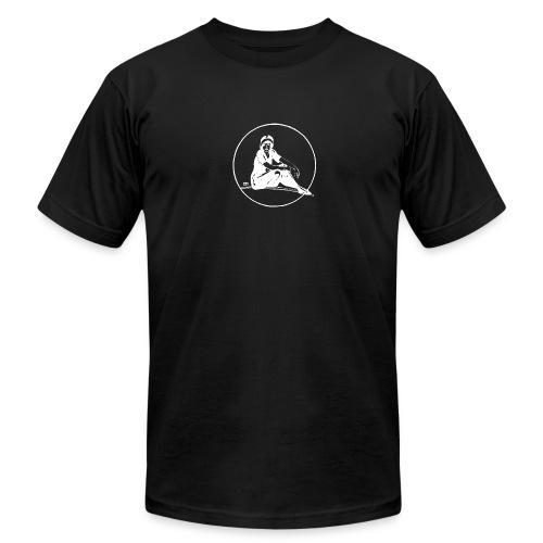 Sitting Lady - vintage - Men's Fine Jersey T-Shirt