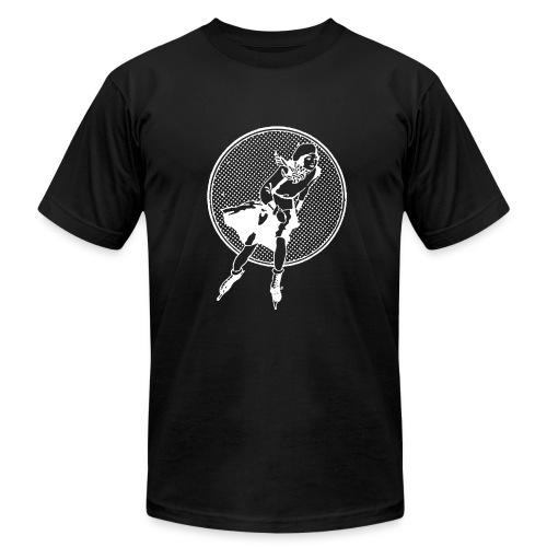 Female Figure Skater - vintage - Men's Fine Jersey T-Shirt