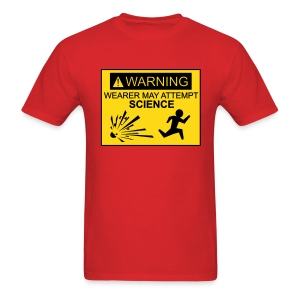 Wearer may attempt science - Men's T-Shirt