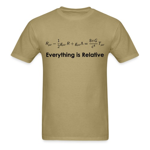 Relativity Equations - Men's T-Shirt
