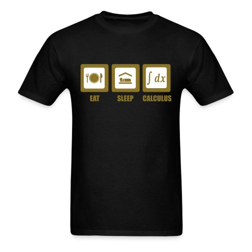 Eat, sleep, calculus - Men's T-Shirt