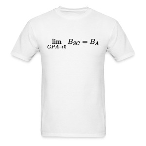 Limit GPA to zero (Science) - Men's T-Shirt