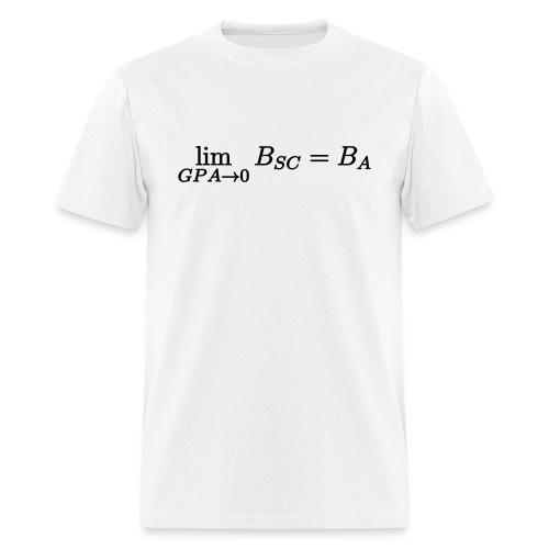 Limit GPA to zero (Science) - Men's T-Shirt