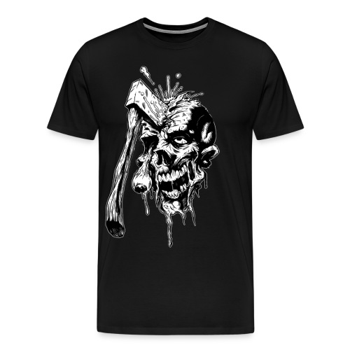 Axed Zombie (With NAME) - Men's Premium T-Shirt
