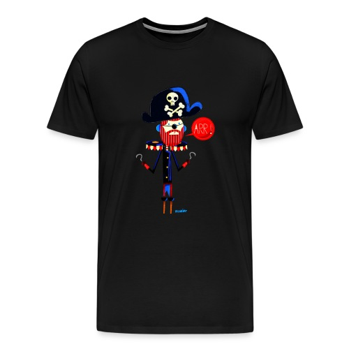 Men's Premium T-Shirt - skeleton,hat,Pirate