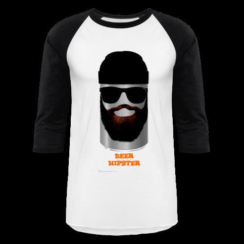 BEER HIPSTER Men's Baseball T-Shirt - Baseball T-Shirt