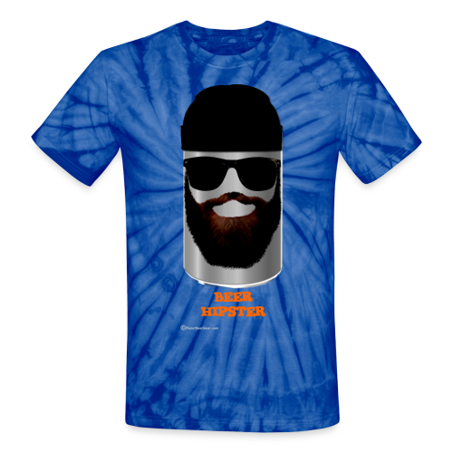 BEER HIPSTER Unisex Tie Dye T-Shirt - Unisex Tie Dye T-Shirt
