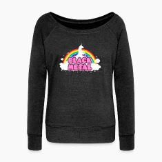 BLACK METAL! (Funny Unicorn / Rainbow Mosh Parody Long Sleeve Shirts