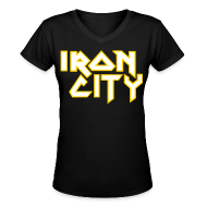 Women's T-Shirts ~ Women's V-Neck T-Shirt ~ Iron City II