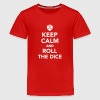 Keep calm and roll the dice Kids' Shirts - Kids' Premium T-Shirt