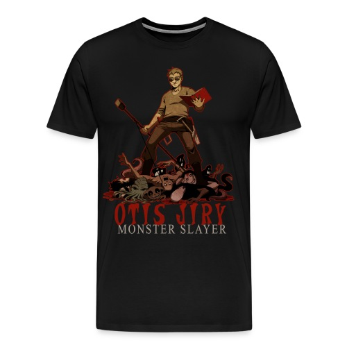 Otis Jiry Monster (Black) - Men's Premium T-Shirt