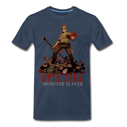 Otis Jiry Monster (Navy) - Men's Premium T-Shirt