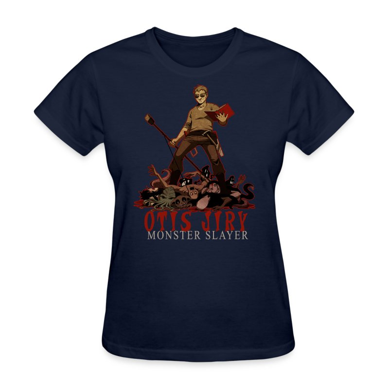 Otis Jiry Monster (Navy) - Women's T-Shirt