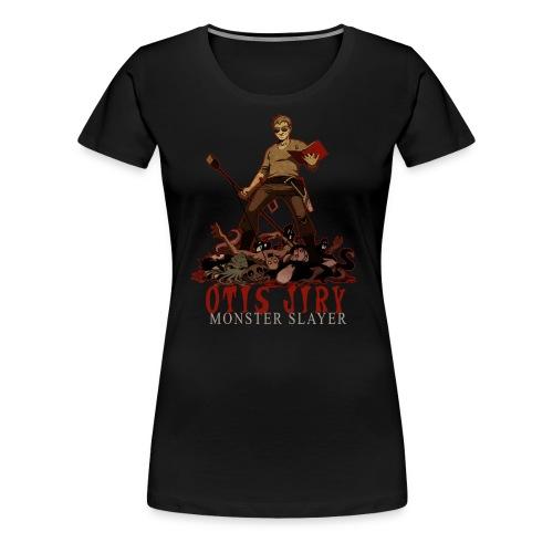 Otis Jiry Monster (Black) - Women's Premium T-Shirt