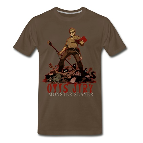 Otis Jiry Monster (Brown) - Men's Premium T-Shirt